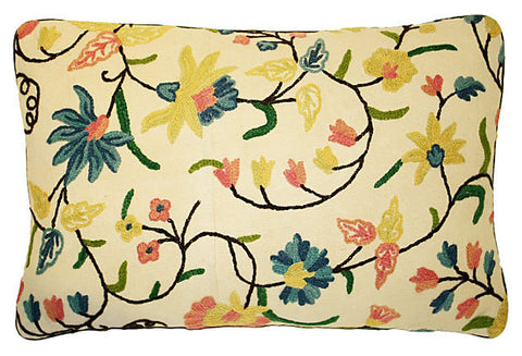 Crewel Floral Pillow VPL00419