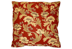 French Jacobean Floral Pillow VPL00435