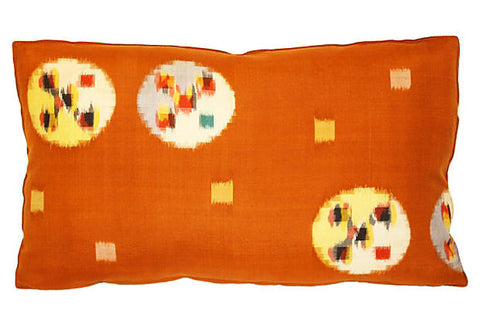 Japanese Silk Ikat Pillow VPL00450