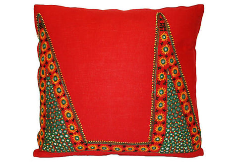 Indian Shisha Mirrored Fabric Pillow VPL00454
