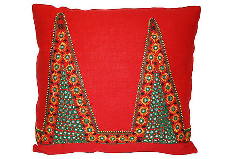 Indian Shisha Mirrored Fabric Pillow VPL00455