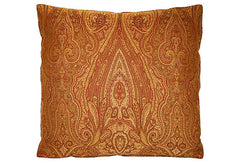 Indian Rust Paisley Pillow VPL00460