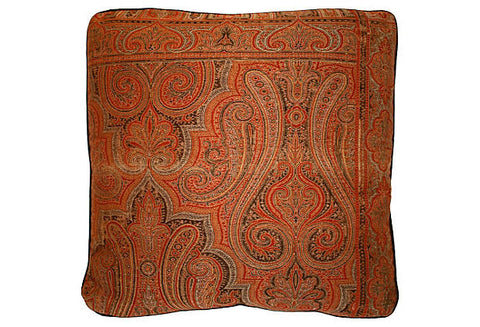 Indian Wool Paisley / Velvet Back Pillow VPL00461