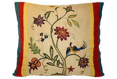 Craftsmen Era Large Floral Pillow VPL00462