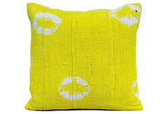 African Yellow Mud Cloth Pillow VPL00497