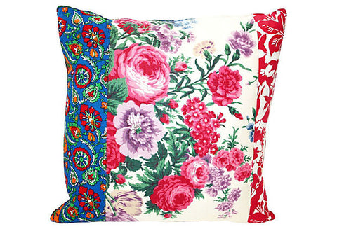 Floral Patchwork Pillow VPL00015