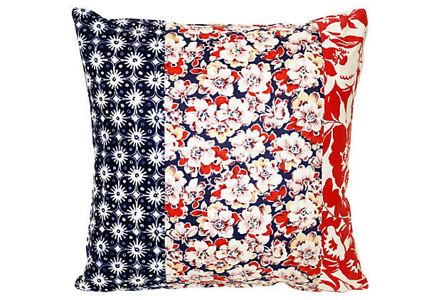 Floral Patchwork Pillow VPL00016