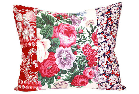 Floral Patchwork Pillow VPL00018