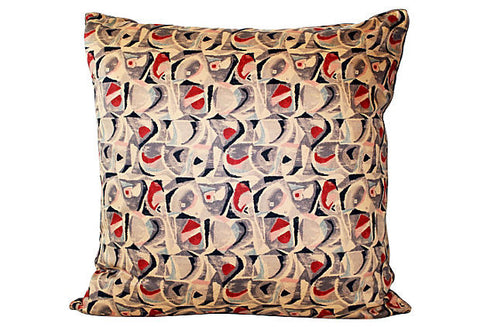 Mid-Century Japanese Fabric Pillow VPL00040