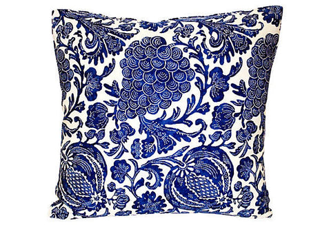Indigo Grape & Pomegranate Pillow VPL00054