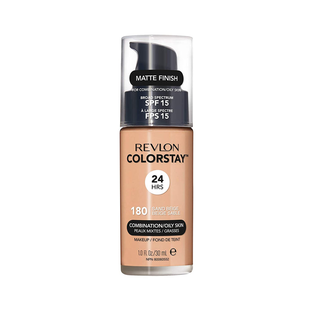 Revlon Colorstay Makeup For Normal-Dry Skin Natural Finish (push top) - Sand Beige #180