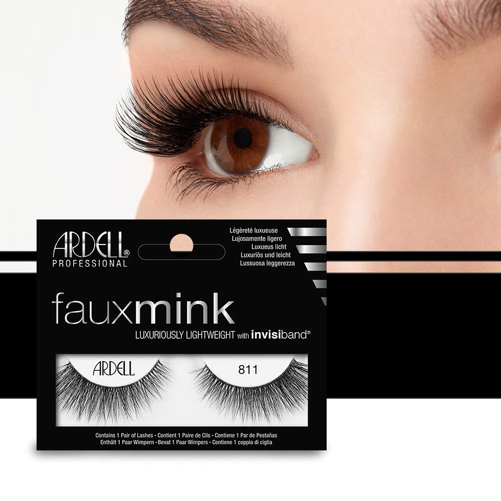 Ardell Faux Mink Luxuriously Light Weight Invisiband Eye Lashes #811