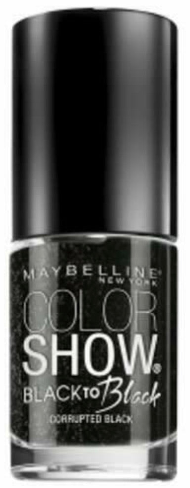 Maybelline Color Show Nail Polish - Corrupted Black #708