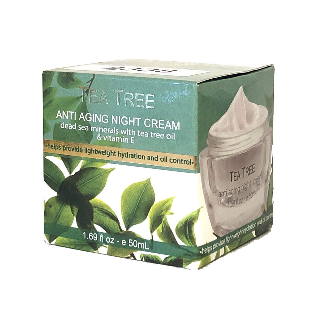 Crystal Line Tea Tree Anti Aging Night Cream - 1.69 fl oz