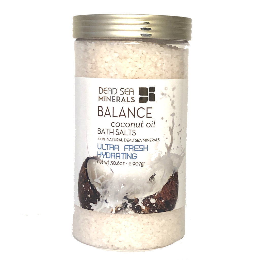 Crystal Line Dead Sea Minerals Balance Coconut Oil Bath Salts - 30.6 oz