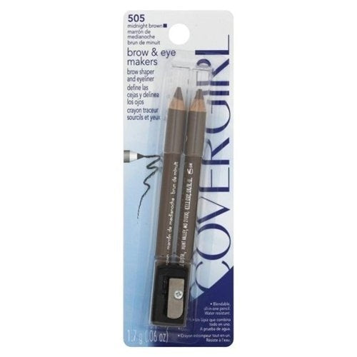 CoverGirl Professional Eye and Brow Makers Pencils - midnight brown  #505