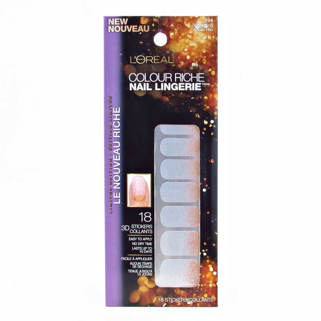 L'oreal Limited Edition Diamond Collection Nail Sticker Lingerie #704 Something About Her