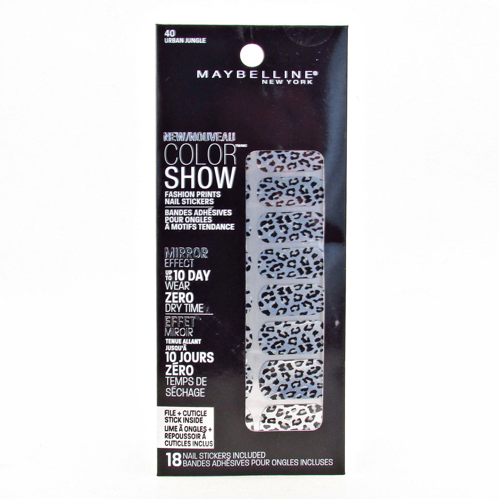 Maybelline Color Show Fashion Print Nail Stickers #40 Urban Jungle