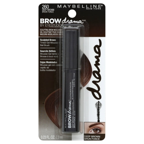 Maybelline Brow Drama Sculpting Brow Mascara - deep brown #260