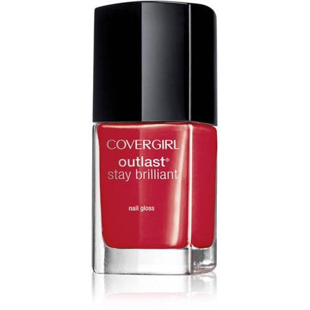 Covergirl Outlast Stay Brilliant Nail Polish - Red Revenge #180