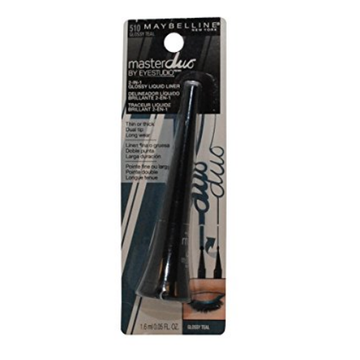 Maybelline Eye Studio Master Duo Glossy Liquid Liner - #510 Glossy Teal - 0.05 oz
