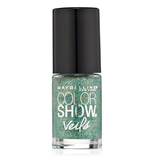 Maybelline Color Show Veils Nail Lacquer Top Coat - Teal Beam #614