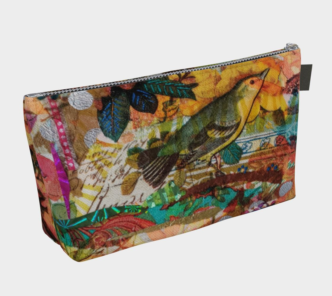 Autumn Birds Cosmetic Zip Bag - Deborah Cherrin Design