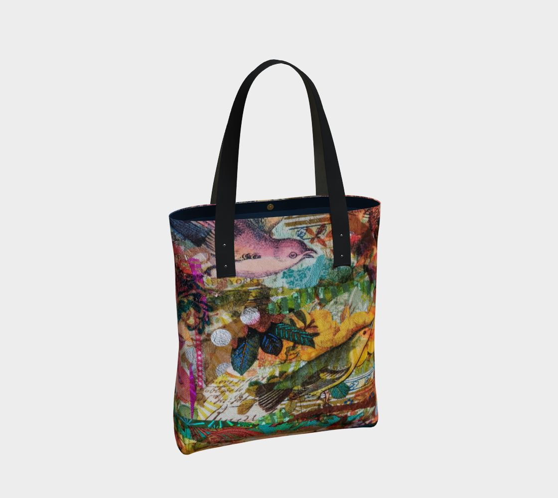 Autumn Birds Premium Tote Bag - Deborah Cherrin Design
