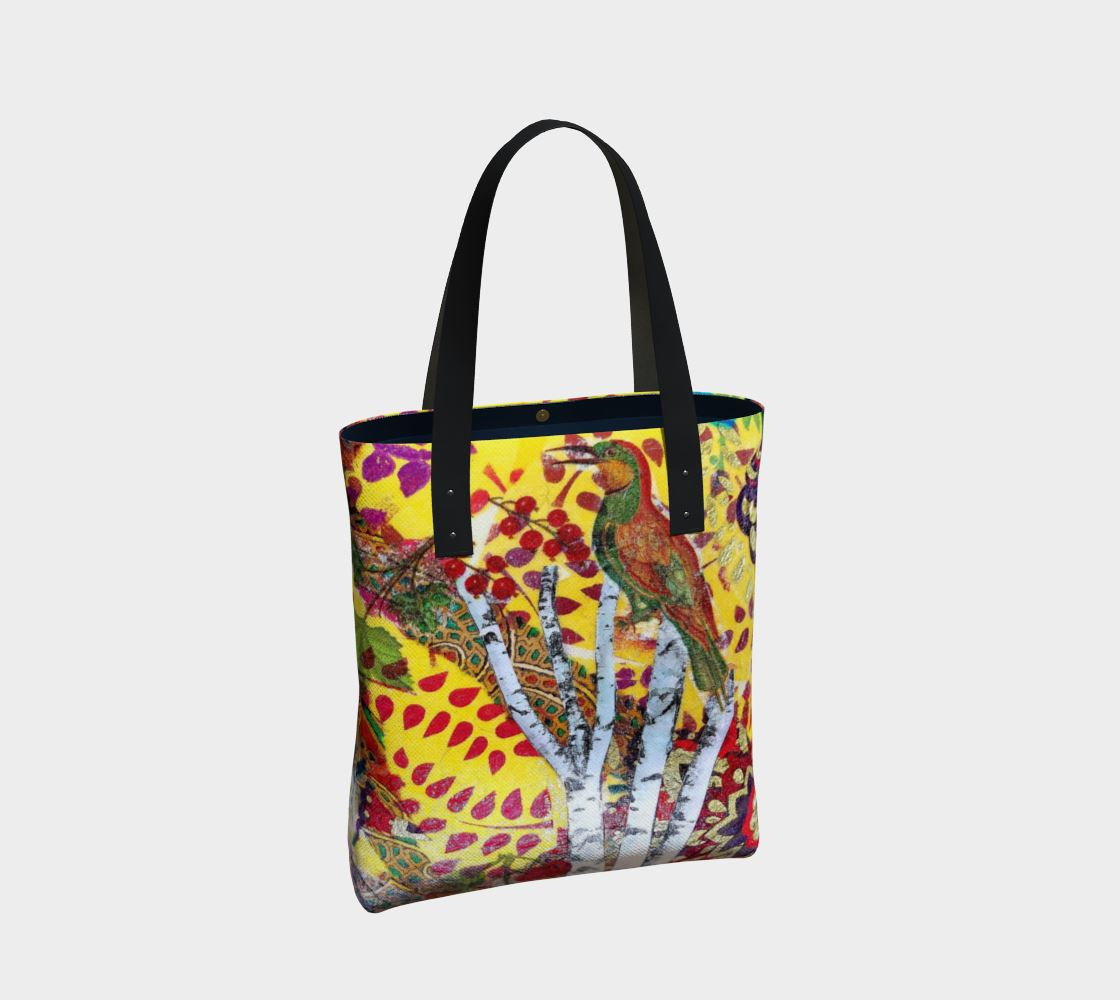 Birds and Birch Premium Canvas Tote Bag - Deborah Cherrin Design