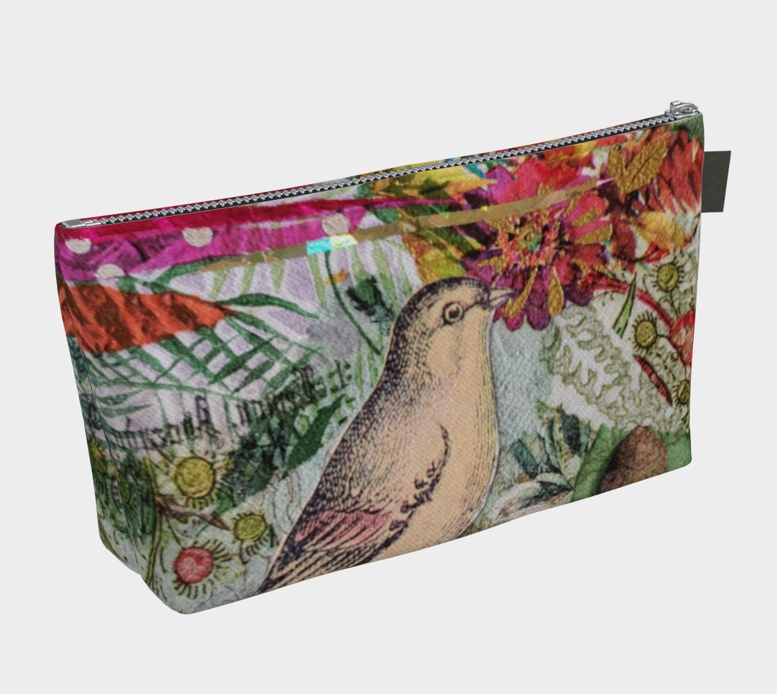 Garden Magic Cosmetic Zipper Bag - Deborah Cherrin Design