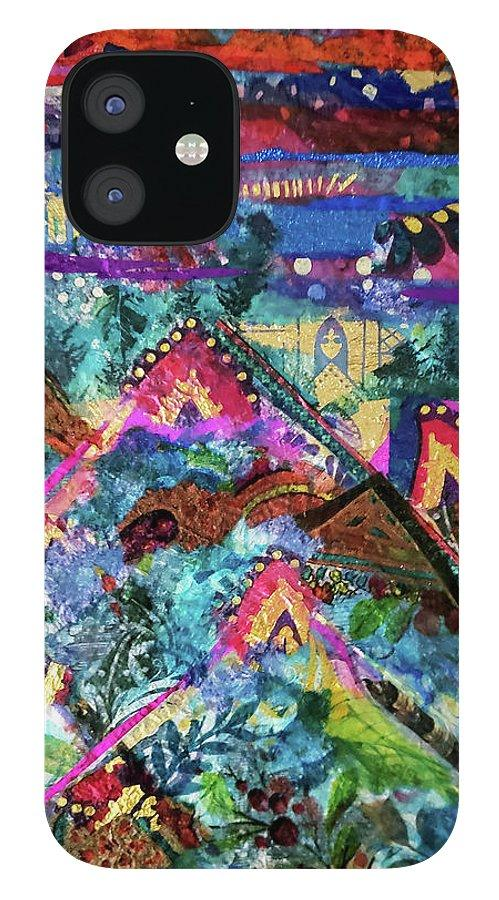 Peaks of Gold Original Art Phone Case - Deborah Cherrin Design