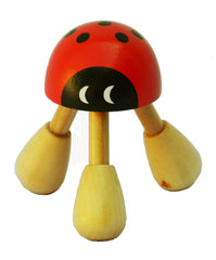 Wooden Ladybug Kneading Massager Plus 2 FREE bags of Foot & Bath Herbs samples $7 Value