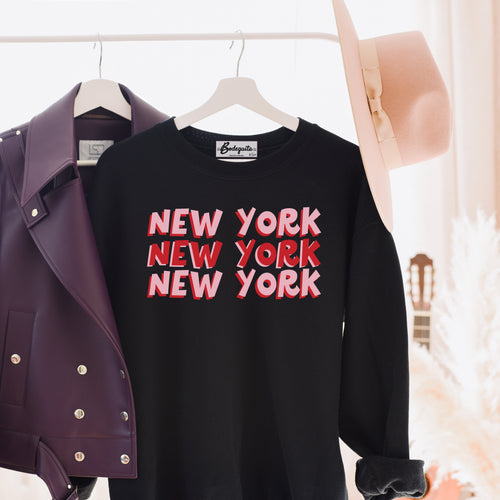 New York X3 | Display View | Bodeguita NYC Black Sweatshirt | Designs Made with Happiness in NYC