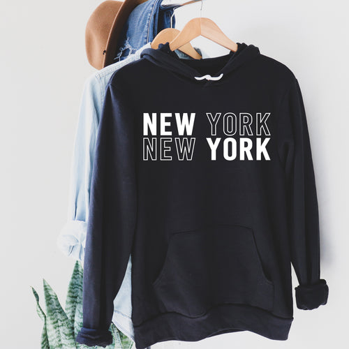 New York New York | Display View | Bodeguita NYC Black Hoodie | Designs Made with Happiness in NYC