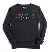 Load image into Gallery viewer, New York City Forever | Bodeguita NYC Dark Gray Long Sleeve | Designs Made with Happiness in NYC