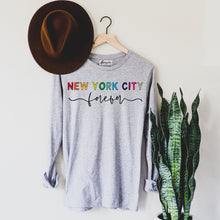 Load image into Gallery viewer, New York City Forever | Display View | Bodeguita NYC Gray Long Sleeve | Designs Made with Happiness in NYC