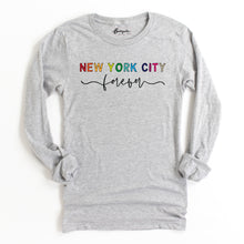 Load image into Gallery viewer, New York City Forever | Bodeguita NYC Gray Long Sleeve | Designs Made with Happiness in NYC