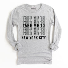 Load image into Gallery viewer, Take Me to NYC | Bodeguita NYC Gray Long Sleeve | Designs Made with Happiness in NYC
