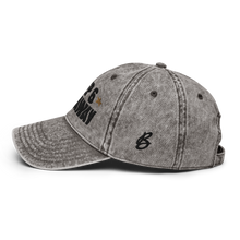 Load image into Gallery viewer, Keep 6 FT Away Vintage White Cap | Black Letters | Logo View | Bodeguita NYC Baseball Cap | Designs Made with Happiness in NYC
