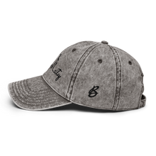 Load image into Gallery viewer, New York City Vintage White Cap | Black Letters | Logo View | Bodeguita NYC Baseball Cap | Designs Made with Happiness in NYC