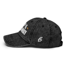 Load image into Gallery viewer, Keep 6 FT Away Black Vintage Cap | White Letters | Logo View | Bodeguita NYC Baseball Cap | Designs Made with Happiness in NYC