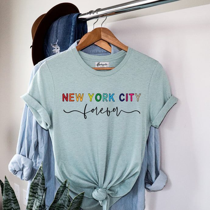 New York City Forever | Display View | Bodeguita NYC Prism Colors T-shirt | Designs Made with Happiness in NYC