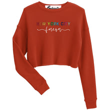 Load image into Gallery viewer, New York City Forever | Bodeguita NYC Red Cropped Sweatshirt | Designs Made with Happiness in NYC