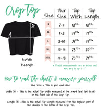 Load image into Gallery viewer, NYC is Golden | Embroidery | Size Chart |Bodeguita NYC Black Cropped T-shirt | Designs Made with Happiness in NYC