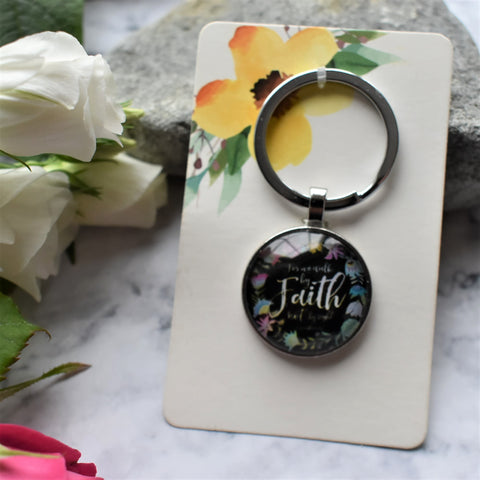 "Bible Verse Key-ring - ""Faith"""