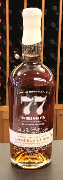 77 Whiskey; Local Rye & Corn