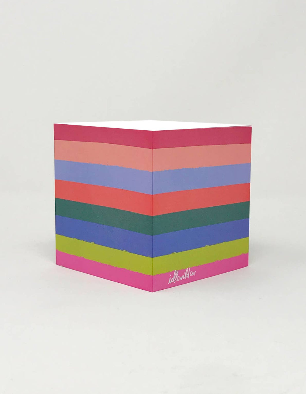 Rainbow Sticky Note Cube