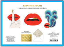 Load image into Gallery viewer, Jonathan Adler Boxed Diecut Notecard Set