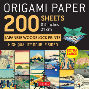 Origami Paper 200 sheets Japanese Woodblock Prints