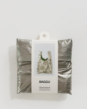 Load image into Gallery viewer, Baggu Reusable Bag: Metallic Pewter